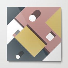 Geometric Shadow Metal Print