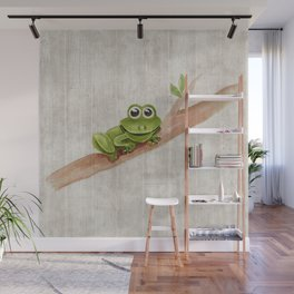 Little Frog, Forest Animals, Woodland Critters, Tree Frog Illustration Wall Mural