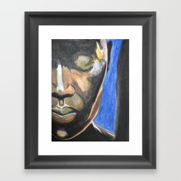 Face in Contemplation Framed Art Print