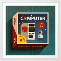 computer Art Prints featuring Computer by oneedo