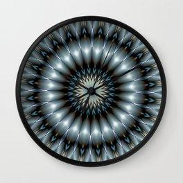 Metallic Mandala Wall Clock