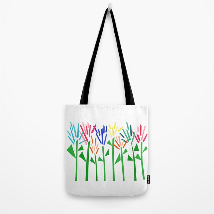Tropical Rainbow Collage by Emma Freeman Tote Bag