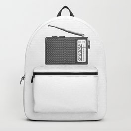 Vintage portable radio in design fashion modern monochrome style illustration Backpack