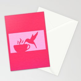 Nectar of the Gods Hummingbird Coffee Stamp Print Stationery Cards
