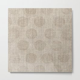 Poka dot burlap (Hessian series 2 of 3) Metal Print
