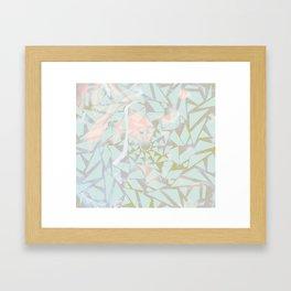 Opal Shattered Glass Framed Art Print