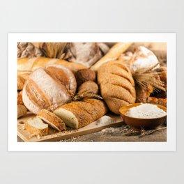 Bread Baker Art Print