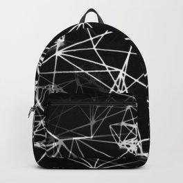 Geometric himmeli ornaments as minimal negative pattern Backpack