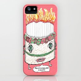 Why is it so damn HOT in here?!!! pink iPhone Case