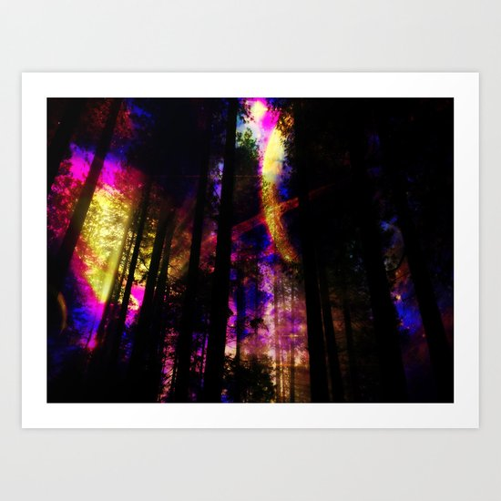close your eyes and dream with me Art Print
