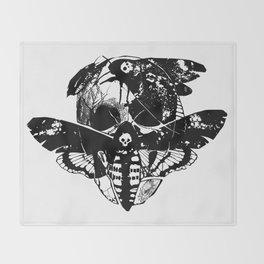 Death's-head hawkmoth Throw Blanket