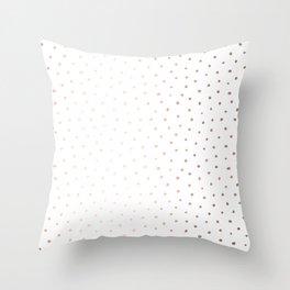 Rosegold Dots II Throw Pillow