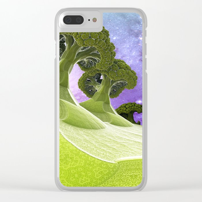 Broccoli Planet Clear iPhone Case