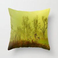 fairies Throw Pillows featuring Fairies Nebula by Stephanie Koehl