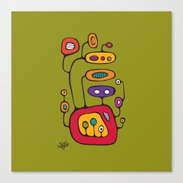 Broadcast in Full Color Canvas Print