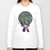 atlas Long Sleeve T-shirts featuring ATLAS by Dani Herrera