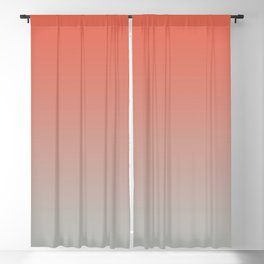 Pantone Living Coral & Storm Gray Gradient Ombre Blend Blackout Curtain