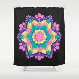 [Mandala] Neon Love Shower Curtain