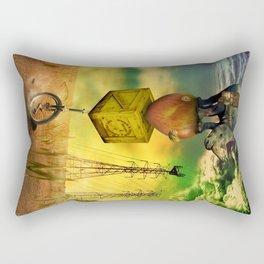 Freewheeling field maneuvers Rectangular Pillow