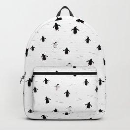 Penguins minimalistic pattern Backpack