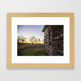 Window Treatment Framed Art Print