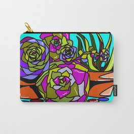 A Still Life of Succulent Plants in a Garden Scene Carry-All Pouch