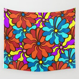 floral background. field of multi colored bright summer colors for the background Wall Tapestry