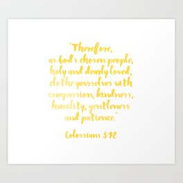 Colossians 3:12 Art Print