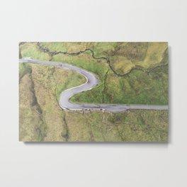 Hairpin bends on Glengesh Pass, Donegal Metal Print