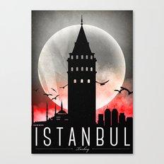 Black-White Galata Tower Istanbul Canvas Print
