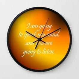 Speak My Mind Wall Clock