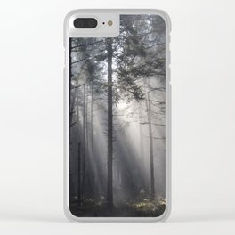 Illuminated Forest Clear iPhone Case