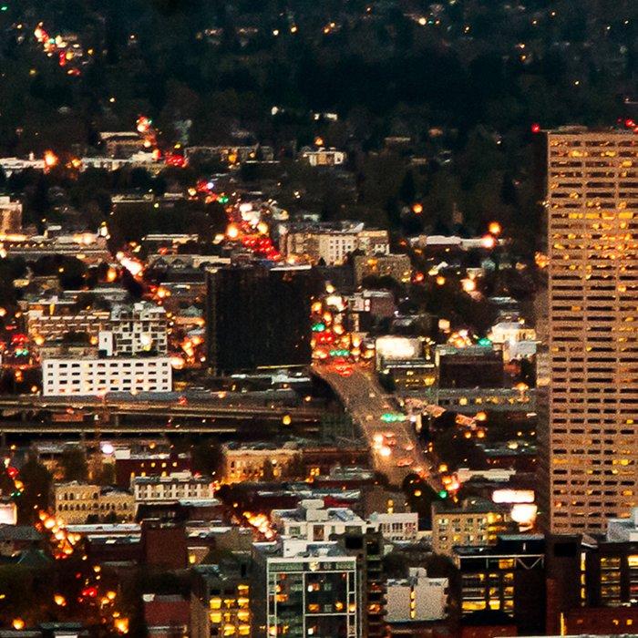 Portland Skyline Leggings