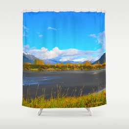Fall at Portage Creek Shower Curtain