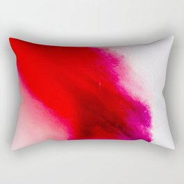 Slow Burn: simple abstract ink on paper in red, purple, and pink Rectangular Pillow
