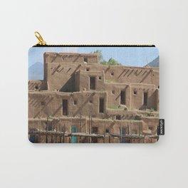 A Taos Pueblo Building Carry-All Pouch