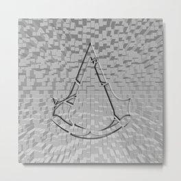 Assasins Creed Chrome Shadow Metal Print