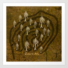 Ethnic 4 Canary Islands / Crowd in the Maze Art Print
