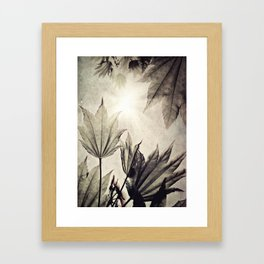 full moon {neutral Framed Art Print