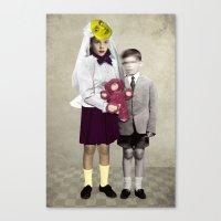 bride Canvas Prints featuring Bride by Momenti Riciclati