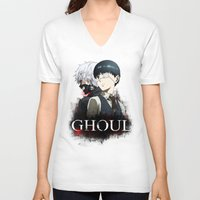 tokyo ghoul V-neck T-shirts featuring Tokyo Ghoul by 666HUGHES
