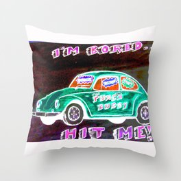 Punch Buggy II Throw Pillow