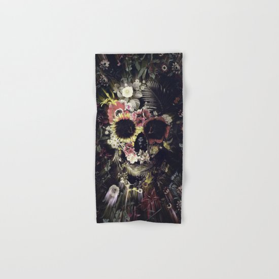 Garden Skull Hand & Bath Towel