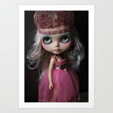Pink Custom Blythe Darling Diva Art Doll Art Print