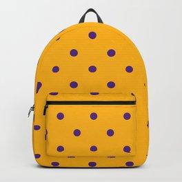 Polka Dots Pattern: Purple & Yellow Backpack