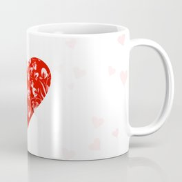 Romantic Floral Valentine Heart Coffee Mug