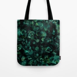 Dark Rich Teal Botanical Plant Abstract Tote Bag