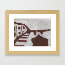 Lonely boat Framed Art Print