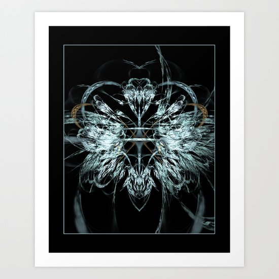 Angel Wings Fractal Art Print