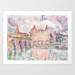 """Paul Signac """"Vue de Montauban sous la pluie (View of Montauban in the rain)"""" Art Print"""